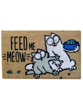 Felpudo de Coco Simon's Cat Feed me