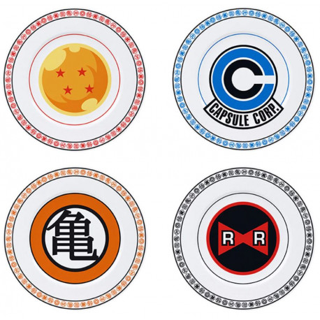 Set de 4 platos Dragon Ball