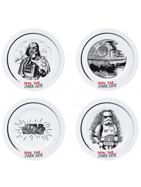 Set de 4 platos STAR WARS