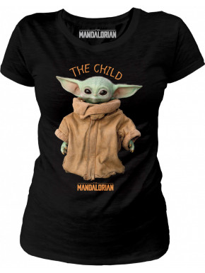 Camiseta Chica The Child The Mandalorian Negra