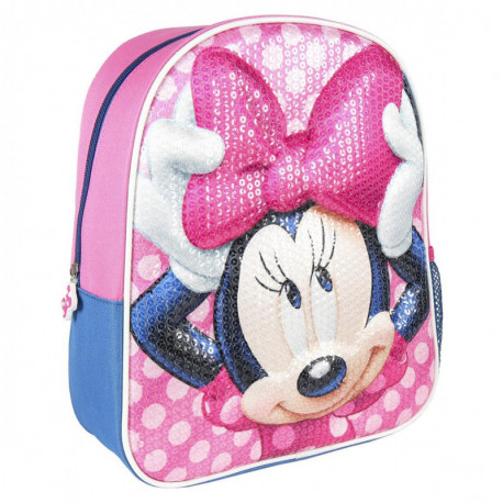 Mochila Minnie Mouse rosa 3D