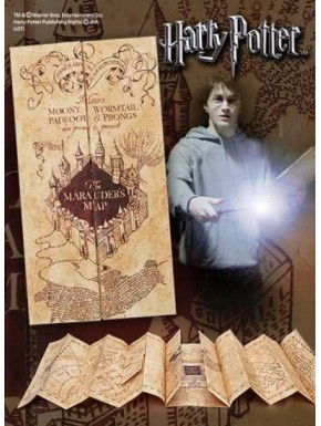 Réplica mapa Merodeador Harry Potter