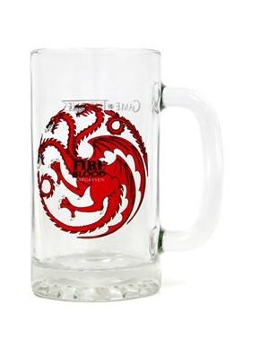 Jarra Cerveza cristal Targaryen Juego de Tronos