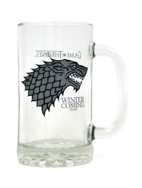 Jarra de Cerveza Juego de Tronos Stark cristal