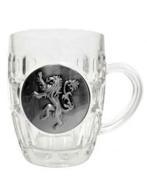 Jarra Cerveza Lannister cristal y metal