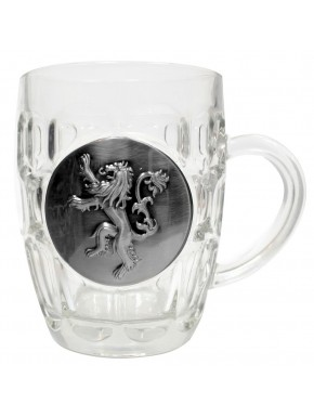 Jarra Cerveza Lannister Cristal y escudo