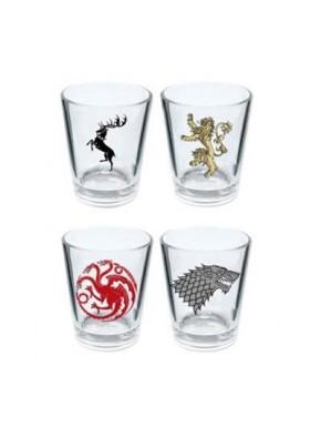 Set de 4 vasos de chupito Juego de Tronos