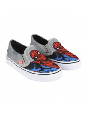 Zapatilla infantil de loneta elasticas Spiderman retro para niño