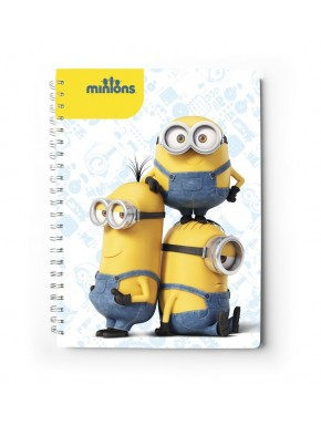 Cuaderno A4 Minions tapa dura