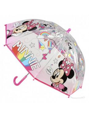 Paraguas Minnie Mouse rosa