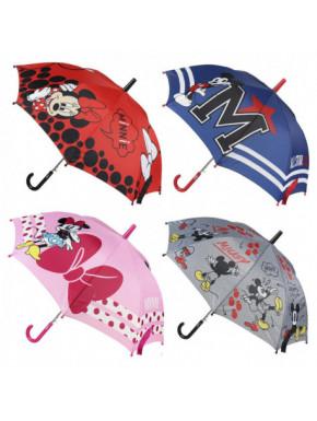 Paraguas automático Mickey y Minnie Disney