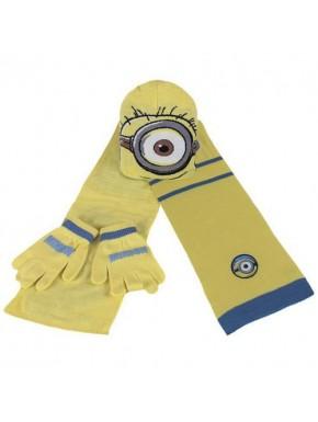 Conjunto Invernal : gorro , bufanda y guantes Minions