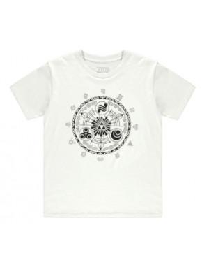 Camiseta blanca Zelda símbolos