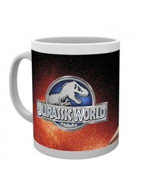 Taza Jurassic World T-Rex logo