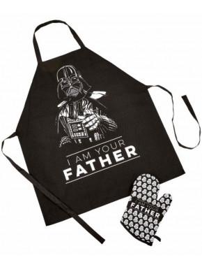 "Delantal y Manopla Darth Vader Star Wars \"" I Am Your Father\"""