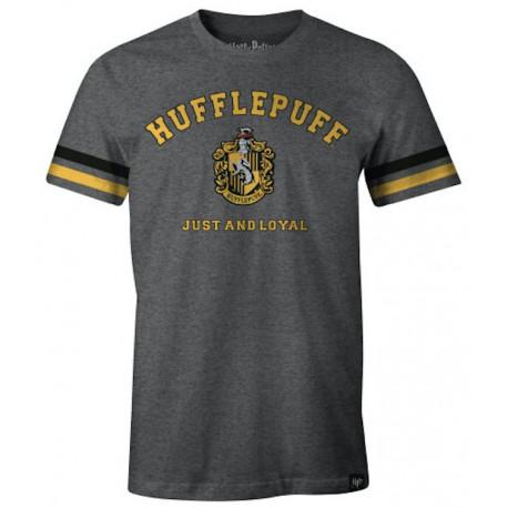 Camiseta Hufflepuff Harry Potter gris