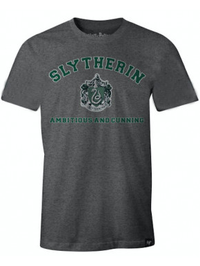 Camiseta Slytherin Harry Potter Gris