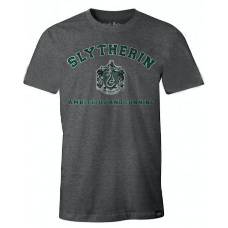 Camiseta Slytherin Harry Potter Gris