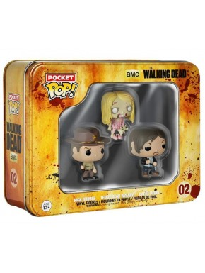Caja mini Funko Pop The Walking Dead Dary Rick y Walker