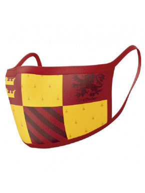 Pack de 2 mascarillas reutilizables Harry Potter Gryffindor