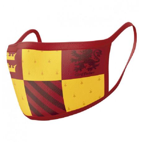 Pack de 2 mascarillas textiles premium casa Gryffindor