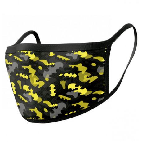 Pack de 2 mascarillas textiles premium Batman camuflaje amarillo