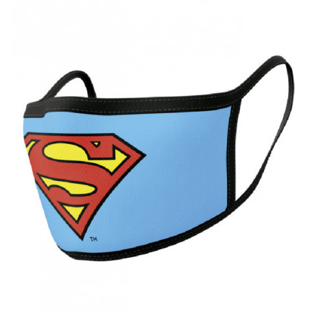 Pack de 2 mascarillas textiles premium logo Superman