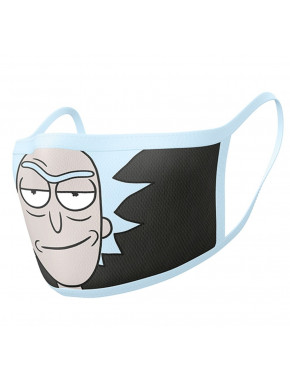 Pack de 2 Mascarillas reutilizables Rick and Morty