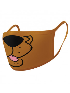 Pack de 2 mascarillas textiles premium Scooby Doo