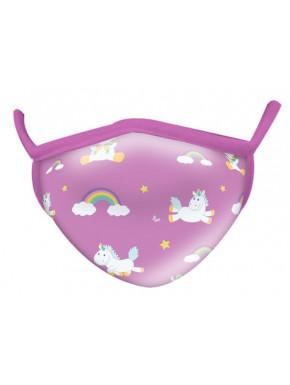 Mascarilla Infantil Unicornio Volador