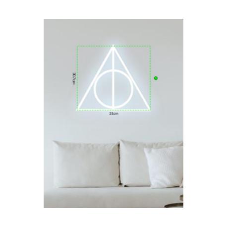 Neón LED Reliquias de la Muerte Harry Potter