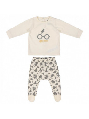 Pijama Harry Potter Bebé Sombrero Seleccionador Gris