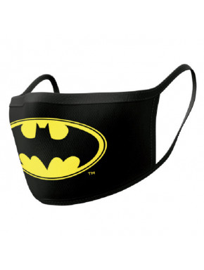 Pack de 2 mascarillas textiles premium Batman