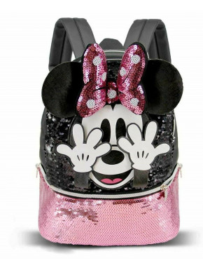 Bolso Mochila Minnie Lentejuelas Disney