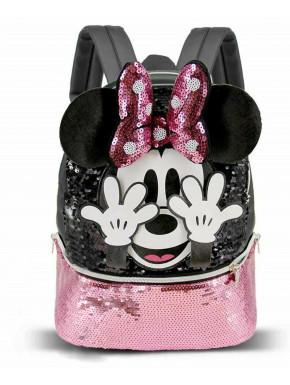 Bolso Mochila pequeño Minnie Lentejuelas Disney