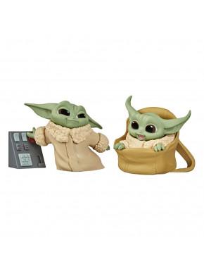 Pack 2 Figuras Baby Yoda Bounty Collection Mandalorian Botones + Bolsa