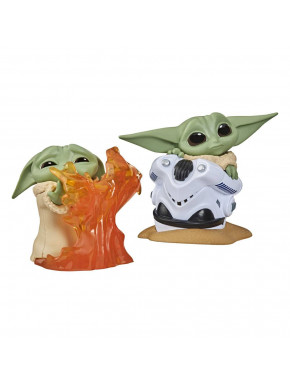 Pack 2 Figuras Baby Yoda Bounty Collection Mandalorian Fuego+ Casco