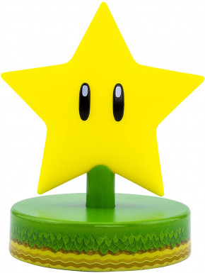 Mini Lámpara 3D Super Mario Star 10 cm