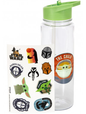 Botella con Stickers The Mandalorian The Child