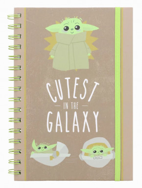 Cuaderno espiral Mandalorian Cutest in the Galaxy