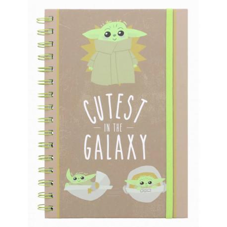Cuaderno espiral Mandalorian Cutest in the Galaxy