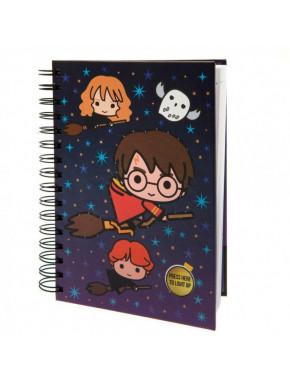 Cuaderno A5 Harry Potter Chibi con espiral y luces
