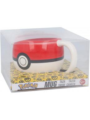 Taza 3D Pokeball Pokemon 440 ml