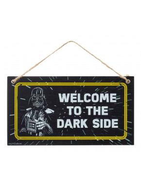 Placa de Madera Star Wars Welcome To The Dark Side