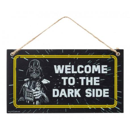 Placa de Madera Welcome To The Dark Side Star Wars