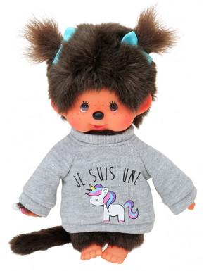 Monchhichi con jersey de unicornios 20cm