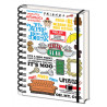 Cuaderno A5 espiral Friends Frases