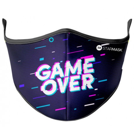 Mascarilla Reutilizable Game Over Star