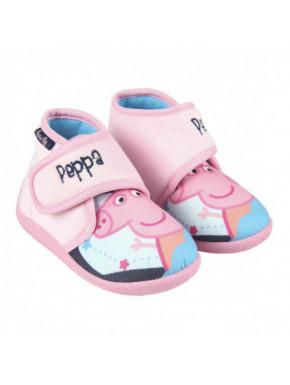 Zapatilla infantil de casa media bota PEPPA PIG