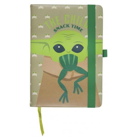 Cuaderno Baby Yoda rana El Mandaloriano
